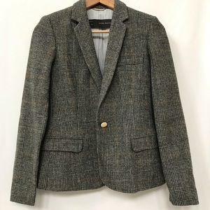 ZARA BLAZER ELBOW PAD CHECKER PATTERN GRAY
